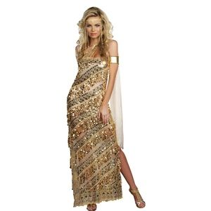 Dreamgirl Women's Golden Goddess Costume NEW